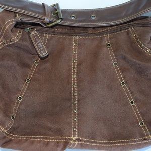 Levis Brown Soft Purse With Leather Adjustable Str